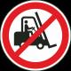 Heftrucks verboden stickers