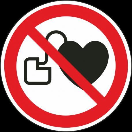 Verbod voor personen met pacemaker stickers