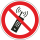 Mobiele telefoon verboden stickers