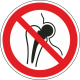 Verboden voor personen met metalen implantaat stickers