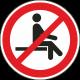 Verboden te zitten stickers