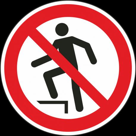 Verboden het oppervlak te betreden stickers