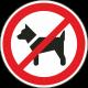 Dieren verboden stickers