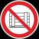 Opslaan of neerzetten verboden stickers