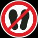 Betreden van ruimte verboden stickers