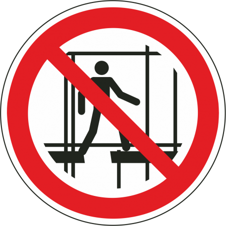 Verboden onafgewerkte stelling te gebruiken stickers