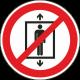 Personenvervoer verboden stickers