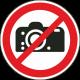 Fotograferen verboden stickers