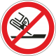 Verboden slijpschijf te gebruiken stickers