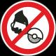 Verboden met de hand te slijpen stickers