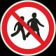 Verboden voor kinderen stickers