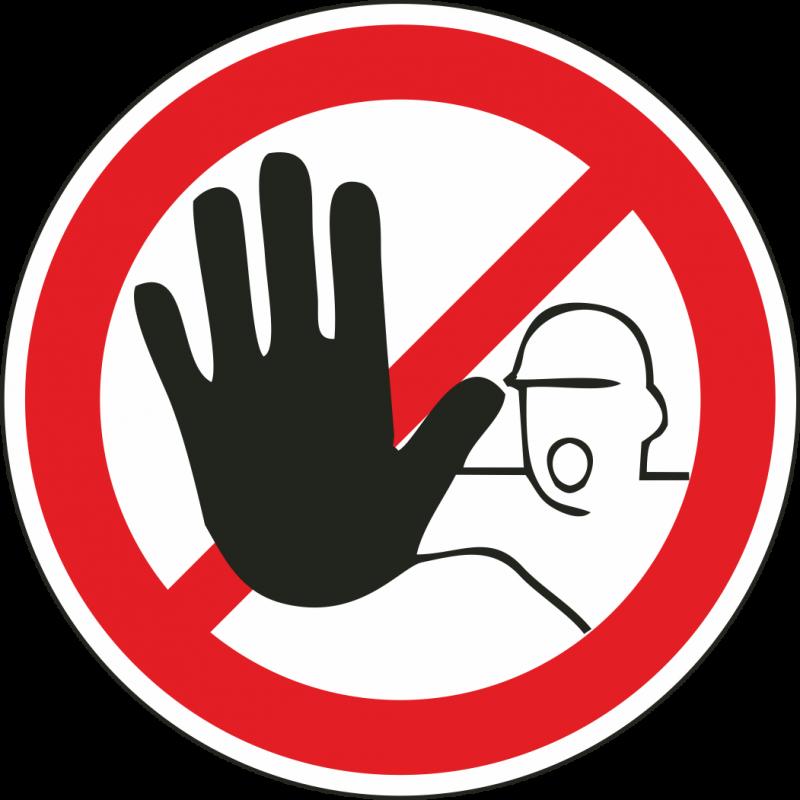verboden toegang stickers voor binnen en buiten