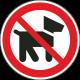Verboden voor honden stickers