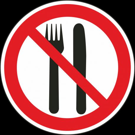 Eten en drinken verboden stickers