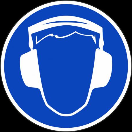 Oorbescherming verplicht stickers
