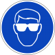 Veiligheidsbril verplicht stickers