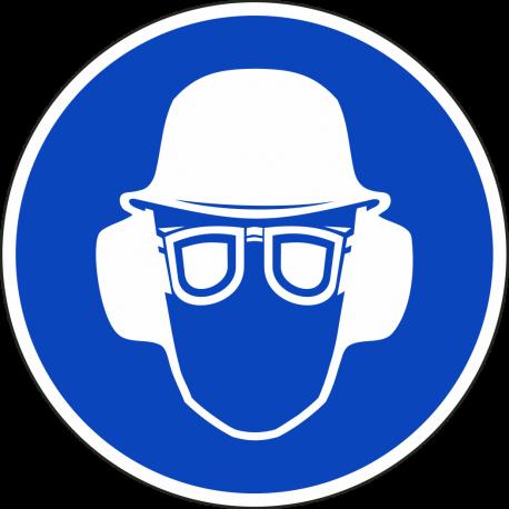 Combinatie (oor - helm - bril) verplicht stickers
