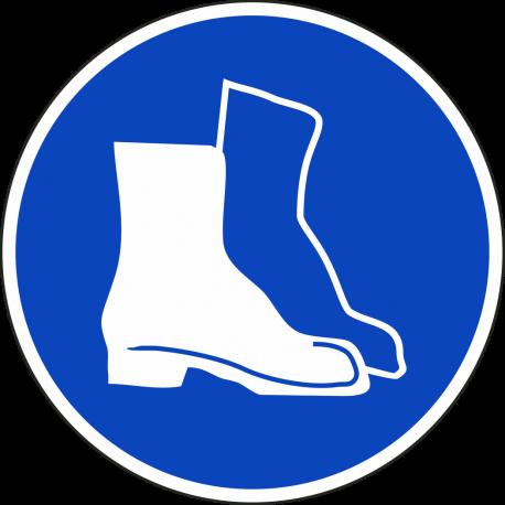Veiligheidsschoenen verplicht stickers