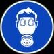 Gasmasker verplicht stickers