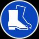 Veiligheidsschoenen verplicht ISO stickers