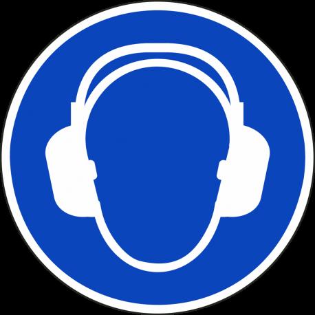 Gehoorbescherming verplicht ISO stickers