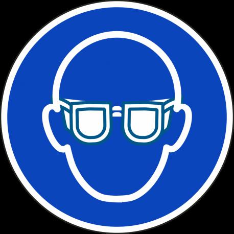 Oogbescherming verplicht stickers