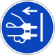 Stekker uit stopcontact trekken stickers