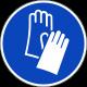 Veiligheidshandschoenen verplicht ISO stickers