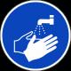 Handen wassen verplicht ISO stickers