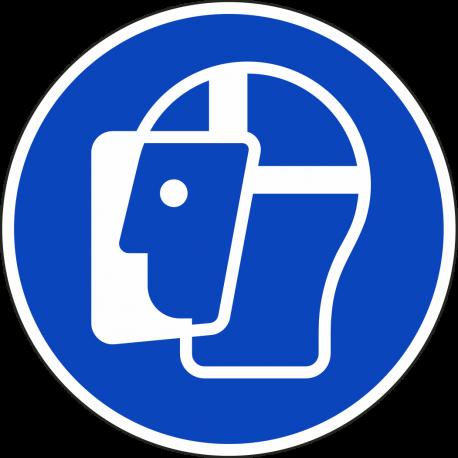 Gelaatsbescherming verplicht stickers