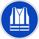 Veiligheidsjas (high visibility) verplicht stickers