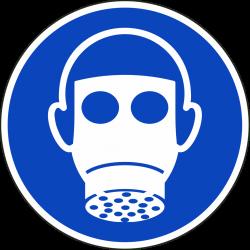 Ademhalingsbescherming verplicht stickers