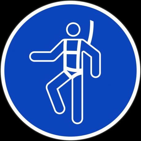 Veiligheidsharnas verplicht stickers