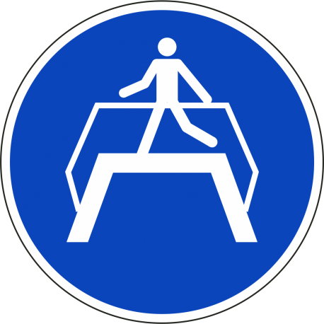 Oversteekplaats gebruiken stickers