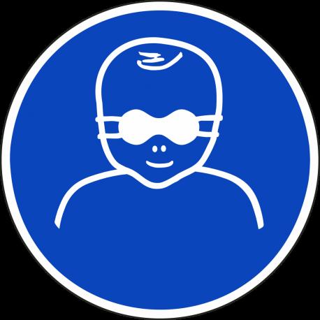 Oogbescherming kinderen verplicht stickers