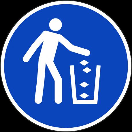 Gebruik de vuilnisbak stickers