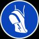 Anti-statische schoenen verplicht stickers