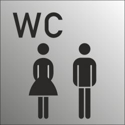 Gezamenlijke wc bordjes (RVS Look)