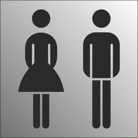 Gezamenlijk toiletbordjes (RVS Look)