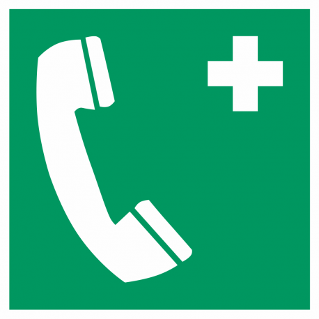 Telefoon voor noodgevallen bordjes