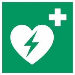 Automatische externe defibrillator (AED) bordjes