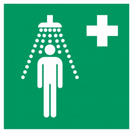 Veiligheidsdouche bordjes