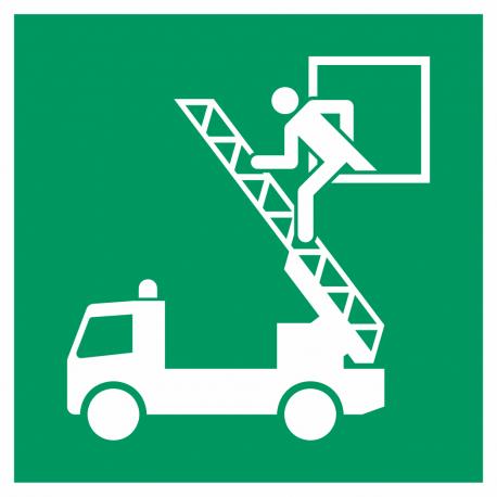 Evacuatievenster bordjes