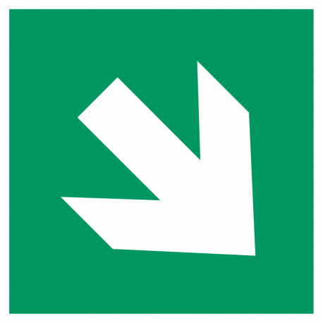 Richtingaanwijzing rechts omlaag bordjes