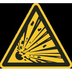 Explosieve stoffen bordjes