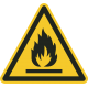 Ontvlambare stoffen bordjes