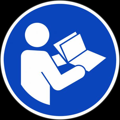 Gebruiksaanwijzing in acht nemen bordjes