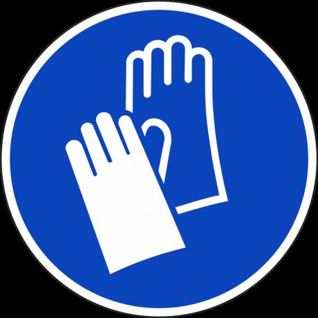 Veiligheidshandschoenen verplicht ISO bordjes