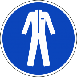 Beschermkleding verplicht bordjes