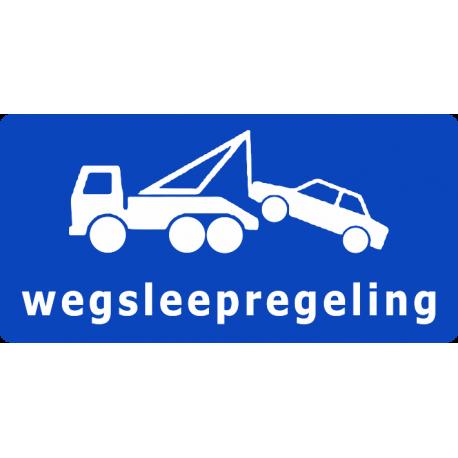 Wegsleepregeling sticker (blauw)